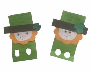 Leprechaun finger puppet make